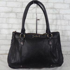 Kate Spade Black Leather Tote Shoulder Bag